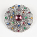 Brooch, Filigree with Stones; Unknown maker; 1938-1939; WY.2008.4.1.4