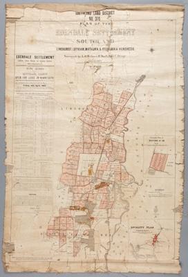 Map, Survey Edendale Settlement; 1904; WY.0000.1511