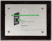 Plaque, Lactose Company Safety Award; Unknown manufacturer; 19.09.1963; WY.2007.10.14