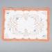 Tray Cloth, Orange Crocheted Edges; Batt, Dorothy; 1950-1960; WY.2010.7.5