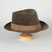 Hat, Man's Trilby Style Hat; Unknown maker; 1950-1960; WY.0000.119