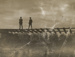 Postcard, Two Men on a Viaduct; Unknown printer; 1910-1920; WY.1991.45