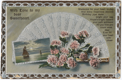 Postcard, Metallic Design; Philco; 1914-1918; WY.1988.235.1
