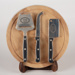 Cheese Board, and Knives; Unknown manufacturer; 2007; WY.0000.833