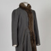 Coat, GreyWoollen Fur-Trimmed; Unknown maker; 1930-1940; WY.0000.519