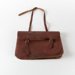 Satchel, Brown Leather; Unknown manufacturer; 1940-1960; WY.0000.1046
