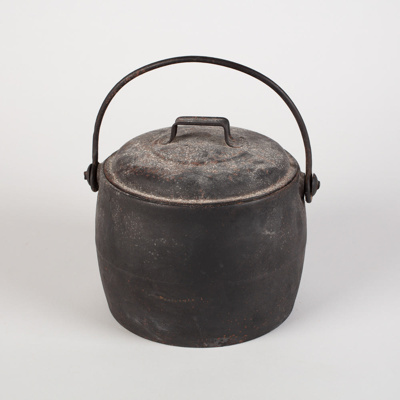 Lidded Pot, Black Cast Iron; Kenrick, Archibald & Sons; 1890-1920; WY.0000.697