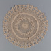 Doily, Crocheted Ecru Circular; Unknown maker; unknown; WY.0000.133