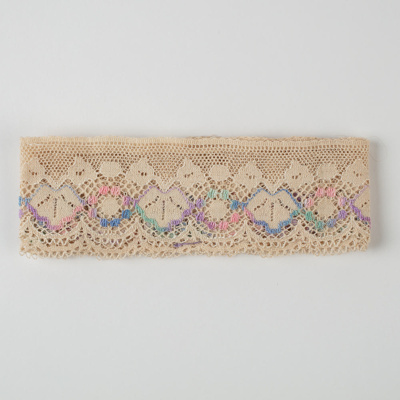 Lace, Ecru and Pastel; Unknown maker; 1950-1960; WY.0000.216