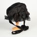Bonnet, Black Victorian-style Bonnet on Navy Blue Base; Unknown maker; unknown; WY.0000.122
