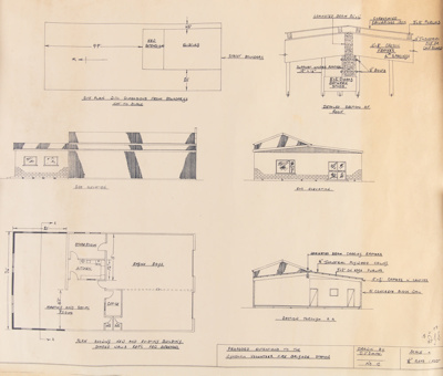 Building Plan, Wyndham Fire Brigade Proposed Extension; Smith, D.J; 18.11.1973; WY.0000.1238