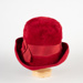 Hat, Women's Red Velour; Body; 1950-1960; WY.0000.110