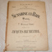 Sheet music, 'Sunshine and rain'; Jacques Blumenthal (b.1829, d.1908), Boosey & Hawkes (estab. 1760s), F. Wyville Home; XHH.760
