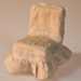 Miniature chair and cover; XHH.2774.6