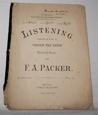 Sheet music, 'Listening: A companion song to