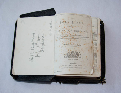 Book, 'Holy Bible'; Not dated; XHH.3359