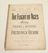 Sheet music, 'The Flight of Ages'; Frederic Weatherly (b.1848, d.1929); XHH.805