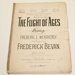 Sheet music, 'The Flight of Ages'; Frederic Weatherly (b.1848, d.1929), Frederick Bevan, Boosey & Hawkes (estab. 1760s); XHH.805