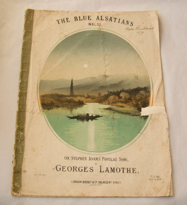 Music Book, 'The Blue Alsatians Waltz'; Georges Lamothe; Not dated; XHH.1089