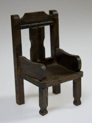 Miniature carver chair; XHH.2774.59.3