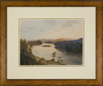 View up the Waikato River from the Telegraph Hill, Mercer.; Mr Sharpe, Alfred; 1873; L1999/1/1