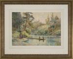 Waikato River (New Zealand River Scene- Three Women On The River); Mr Wright, Frank; 1908; L2003/1/1