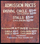 Regent Theatre Matinee Admission Sign; Circa 1980s; 1992/1/17