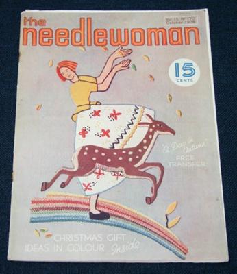 Magazine, 'The Needlewoman'; George Newman Ltd., McCorquodale & Company Ltd; October 1936; XKH.1836.3