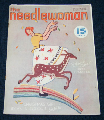 Magazine, 'The Needlewoman'; George Newman Ltd., McCorquodale & Company Ltd; October 1936; XKH.1836.3