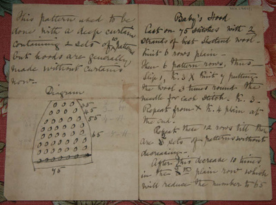 Knitting Pattern; 19th century; XKH.1940.1
