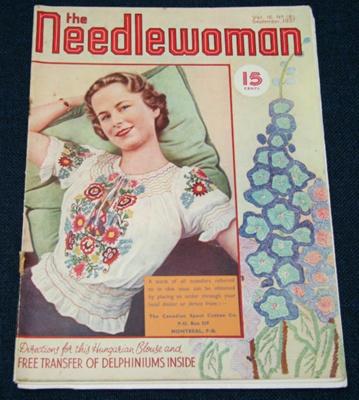 Magazine, 'The Needlewoman'; George Newman Ltd., McCorquodale & Company Ltd; September 1937; XKH.1836.7