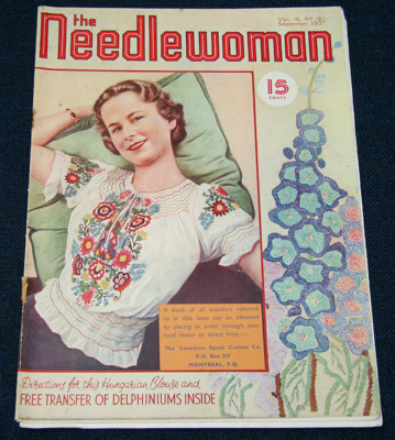 Magazine, 'The Needlewoman'; George Newman Ltd., McCorquodale & Company Ltd; September 1937; XKH.1836.7