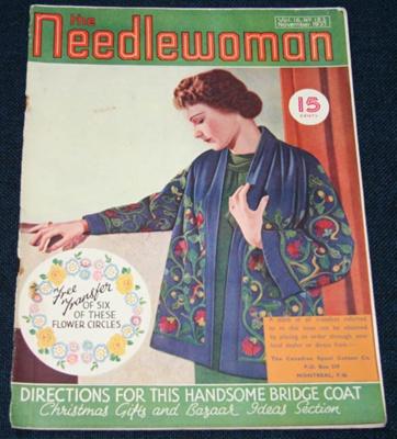 Magazine, 'The Needlewoman'; George Newman Ltd., McCorquodale & Company Ltd; November 1937; XKH.1836.9
