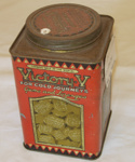 Caddy Tin Victory V Lozenges; The Victory Factories; 1978-0516-1