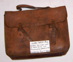 Leather School Bag; c1920; 1978-0510-1