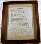 Framed Document -  Museum Poem; 1988-1563-1