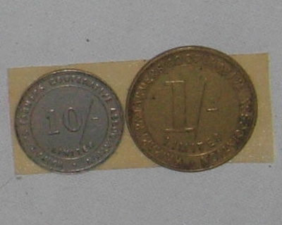 Wairarapa Farmers Tokens; 1997-2425-1