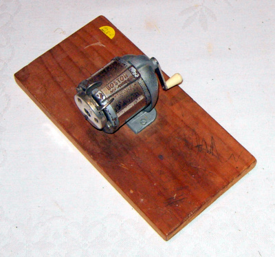Pencil Sharpener; Boston; c1920's; 2006-3146-1 Pencil Sharpener
