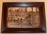 Framed Photo - First Buggy in Hawkes Bay 1888; Kilgour Photography; 1995; 1995-2144-1