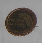 Round Brooch - Ake Ake Kia Kaha; c1904; 1979-0657-1