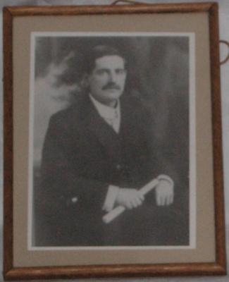 Framed photo of the Late W W McCardle - Ex Mayor Pahiatua; 1977-0490-1