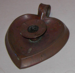 Copper Candlestick Holder; 1980-0934-1