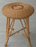 Circular wicker stool; 1975; 1979/0896/1