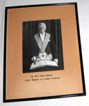Framed Photo - Lodge Tararua No. 67 - W Bro Alex Black.; 1990-1717-1
