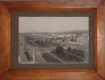 Framed photo - Early Pahiatua street scene; 1990-1724-1