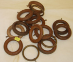 Collection of Wooden Curtain Rings; 1979-0763-1