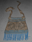 Beaded Purse (Blue); 1982-1249-1