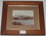 Framed Photo - Ballance Dairy Factory c1915; 2016-3477-1