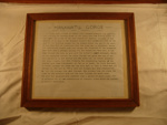 Framed Document - A written description of Manawatu Gorge ; 1995-2868A-1