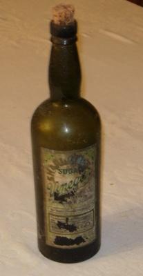 Sharlands Sugar Vinegar Bottle ; 1978-0575-1